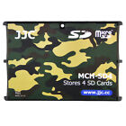 JJC 0.2  Ultra Slim Compact Wallet Memory Card Holders fit 4SD Cards Camouflage