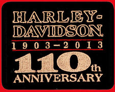 HARLEY DAVIDSON 110TH ANNIVERSARY EMBROIDERED LEGEND PATCH