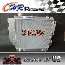 3row aluminum radiator for Jeep Wrangler YJ TJ 2.4L/2.5L L4, 4.0L/4.2L L6 87-06