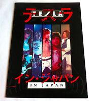 TESLA IN JAPAN 1989 JAPAN CONCERT PROGRAM BOOK Jeff Keith Frank Hannon