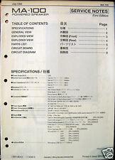 Roland MA100 Keyboard Powered Speaker Original Service Manual Schematics Booklet