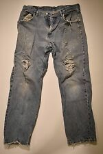Authentic Worn Out Wrangler Blue Jeans