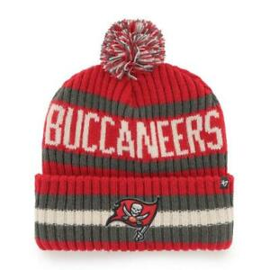 '47 Tampa Bay Buccaneers Red / Black  Bering Pom Cuffed Knit Hat