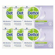 6 x Dettol Sensitive Soap - Antibacterial