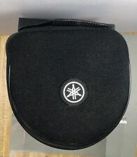 Yamaha Logo Padded Zipper Black Headphones Case EUC w/mesh Pocket