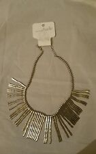 Charming Charlie NWT Silver Tone Spike Necklace