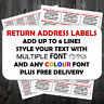 PRE PRINTED MINI LABELS WHITE ADDRESS PERSONALISED SELF ADHESIVE LABELS