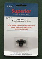 More details for superior sr42 black/red calculator ink roller (casio hr110 ti5045 sharp el1614)