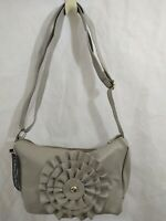 Gray Handbag With Large Bow Crossbody Adjustable Strap Medium Size NWT