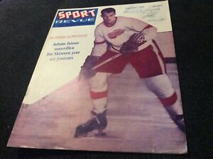 1957 Sport Revue Magazine with Gordie Howe on Cover