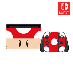 Mario Toad Vinyl Skin Sticker Set for Nintendo Switch