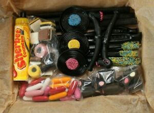 Liquorice Gift Box Sherbet Fountain Allsorts Sweets Wands Wheels Pipes