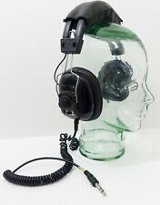 Vintage Mono Stereo Headphones Independent  Volume Adjustment