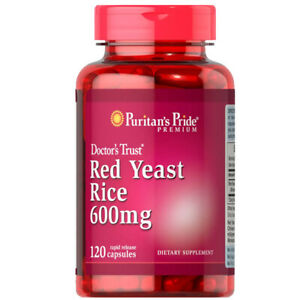 Red Yeast Rice 600mg 120 Caps Puritan 1200mg Per 2 Caps