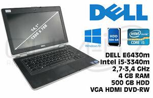 DELL E6430 I5-3340M 14'' 4GB 500GB HDD VGA HDMI Windows 10 DVD-RW B-Ware