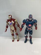 2 Marvel Avengers Talking Light Up Iron Man & War Machine 10 Inch Figures