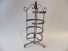 Antique Silvertone Round / Cylinder Rotary Earring  Display Stand