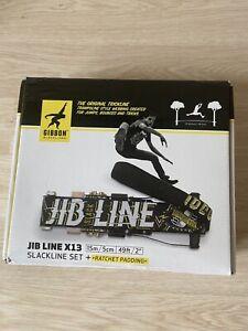 "Gibbon Original Jib Line X13 Slackline Set + Ratchet Padding 15m/5cm (49ft/2"")"
