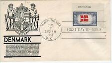 WW2 Patriotic 1943 Overrun Countries #920 DENMARK PLATE # SINGLE Corner Single