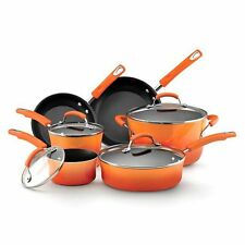 Rachael Ray 10-pc. Nonstick Porcelain Enamel II Cookware Set, Orange