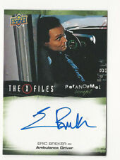 Eric Breker The X Files Ufos & Aliens Paranormal Script Autograph Card Auto