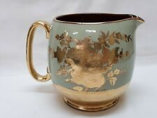 Sadler Milk Pitcher Green And Lots Of Gold Decoration In MINT Condition England