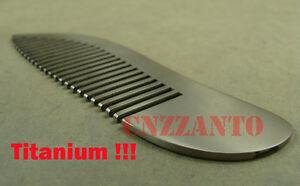 Titanium Ti Comb Unisex Outdoor EDC Hair Comb Health Care static-free