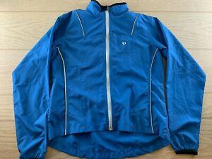 Pearl Izumi Womens Size Medium Cycling Biking Full Zip Jacket Blue White