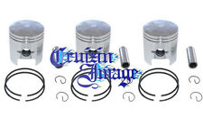 Kawasaki S3 KH400 58mm 1.0mm Oversize Pistons Set 3 Pistons Include 10-KH400PS-2