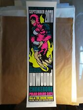 Unwound 2001 Concert Poster - Houston, Tx - Jermaine Rogers Printer Proof