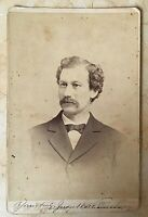 ORIGINAL - JUDGE WILLIAMSON NEW YORK CITY CABINET PHOTO AUTOGRAPHED c1876
