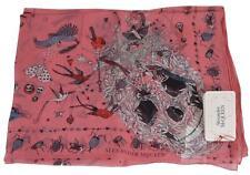 New Alexander McQueen 541341 FANTASY NEST Silk Skull Bird Print Scarf