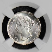 NG0458 Hong Kong 1898 5 Cents silver NGC MS66 rare in this grade combine shippin