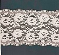 Pale Pink Floral Flat Lace Trimming 5 inch 12.5 CM 125mm Cut to order