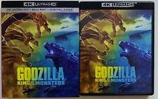GODZILLA KING OF THE MONSTERS 4K ULTRA HD BLU RAY 2 DISC SET + SLIPCOVER SLEEVE