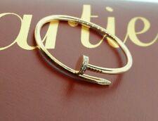 Cartier Juste un Clou Nail Bracelet w/Diamonds in 18k Rose Gold with Papers Sz 1