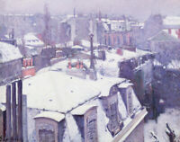 Roofs Under Snow Gustave Caillebotte Wall Art Print Painting Giclee Repro Small