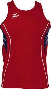 Mizuno Team Singlet Mens Running Vest - Red