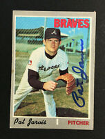 Pat Jarvis Braves signed 1970 Topps baseball card #438 Auto Autograph