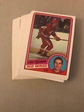 1984-85 OPC DETROIT RED WINGS TEAM SET LOT - MINT JOHN OGRODNICK