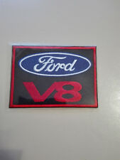 Aufnäher Patch Ford V8 Race Motorsport Tuning Autocross Biker Chopper Aufbügler