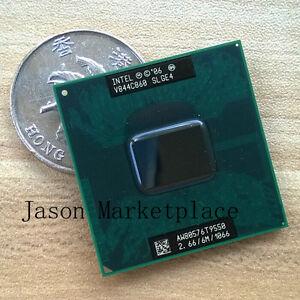 Intel Core 2 Duo T9550 SLGE4 / 2.66 GHz / 6M / 1066g tells the cache processor