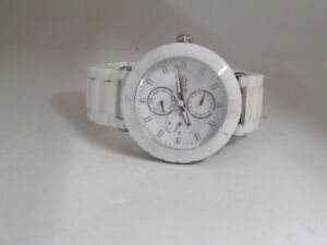 Fossil CE-1000 Ceramic Watch White Multifunction MOP Dial Ladies