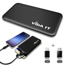 Slim Pocket Size Power Bank Travel Battery Charger 5v Supports Charging 2 Phones