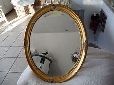 Luxus Spiegel Wandspiegel Retro Spiegel Gold 57 x 47cm Oval Holz Barock Stil NEU