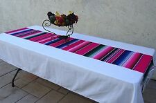 "Mexican Serape Table Runner 80""x14.5"" 85% Cotton 15% Acrylic"