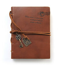 Vintage Notebook Diary String Key Travel Leather Paper Journal Book Sketchbook