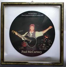 PAUL MC CARTNEY PRESS CONFERENCE ROME & LONDON 1989 PICTURE LP + CORNICE