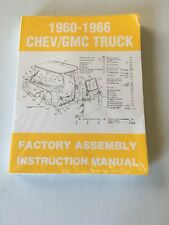 1960 - 1966 Chevy Truck Factory Assembly Manual All Models New 61 62 63 64 65
