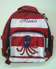 Pottery Barn Kids Mini Preschool Fairfax Red White Striped backpack name Alanis!
